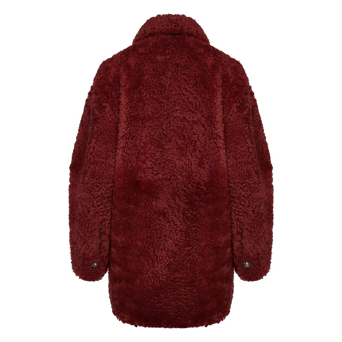 Sarvey oversized shearling coat