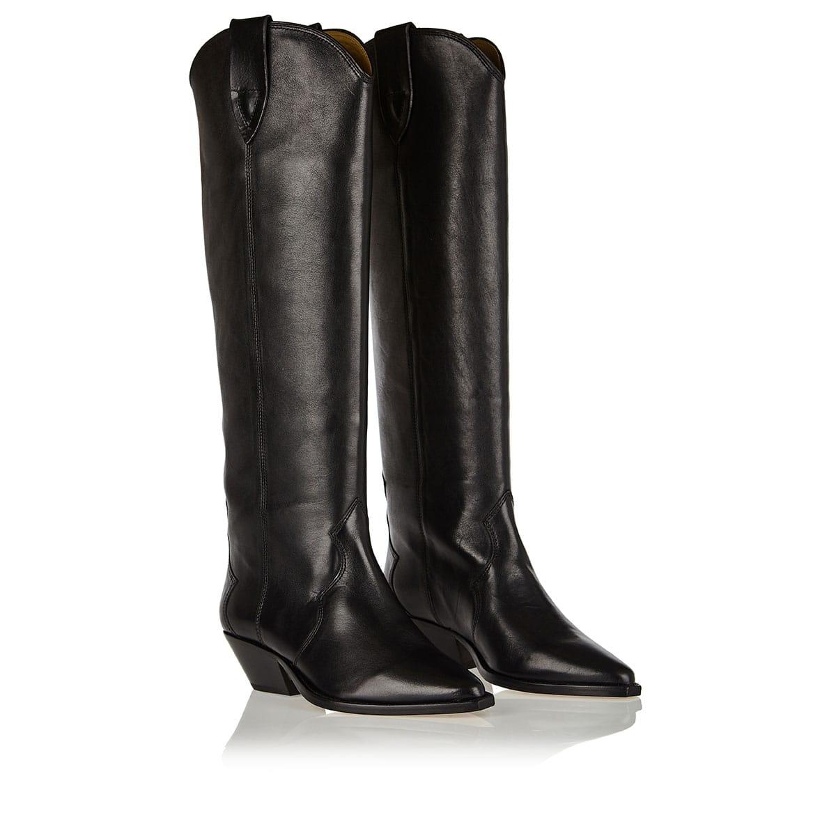 Denvee leather cowboy boots