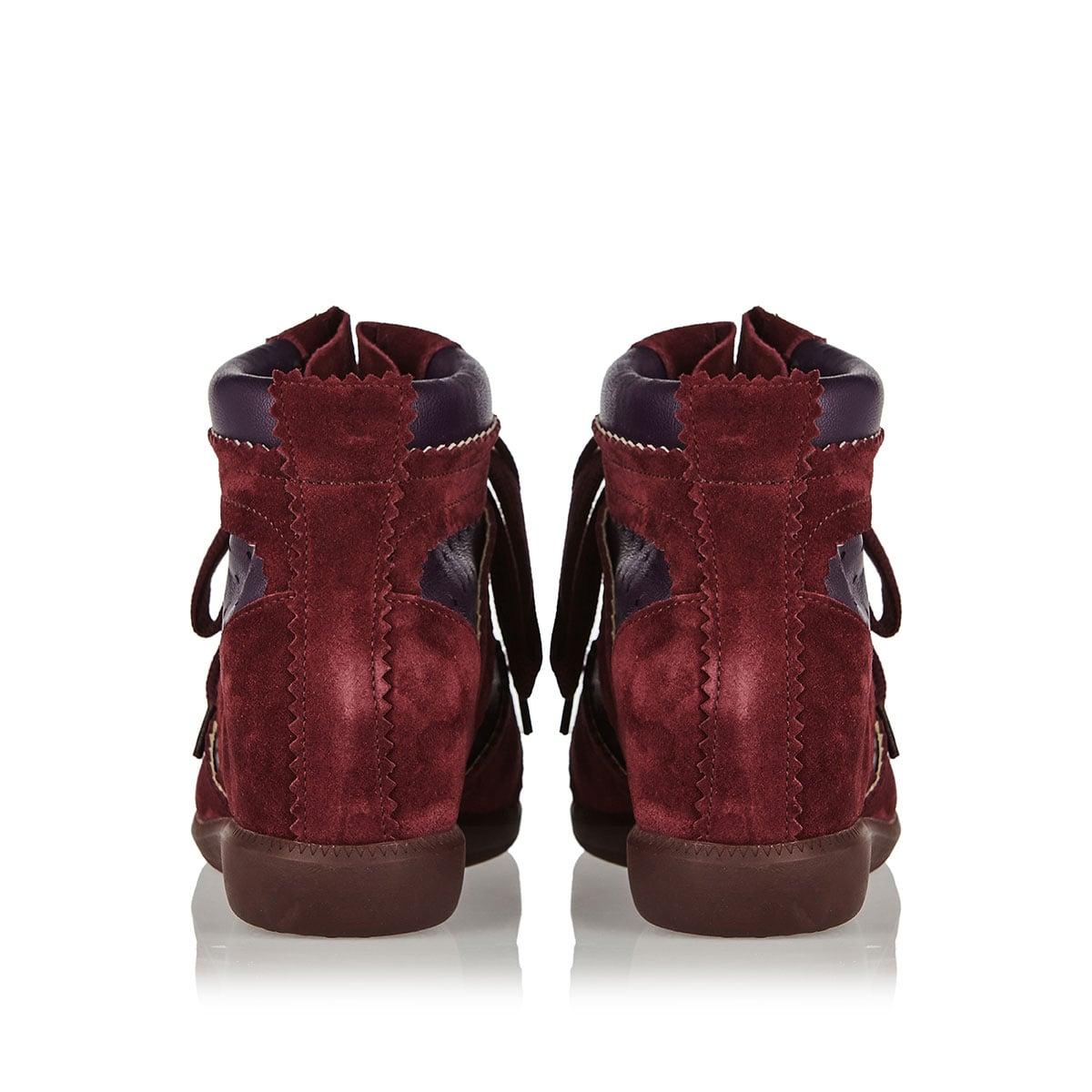 Bobby suede wedge sneakers