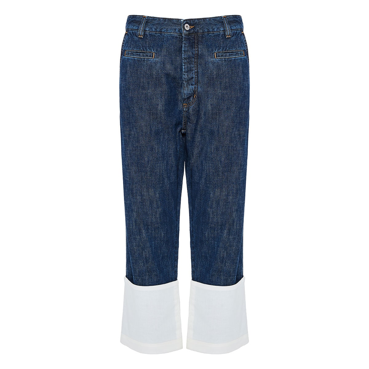 Oversized jeans with folded hems