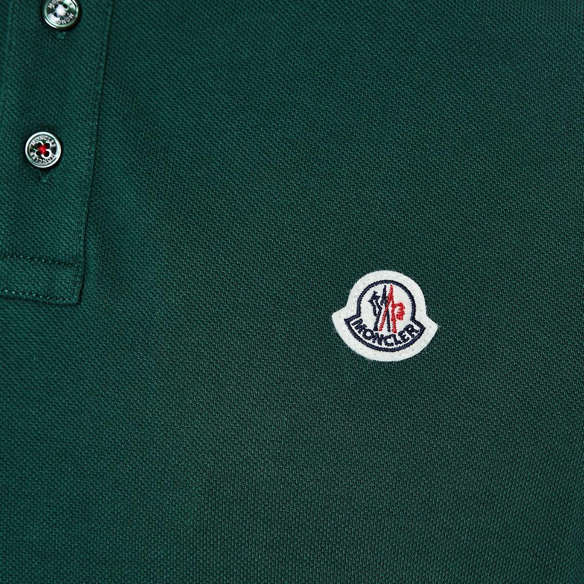 Stripe-trimmed logo polo shirt