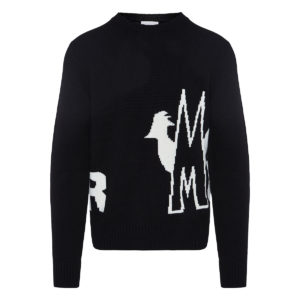 Intarsia-knit logo sweater