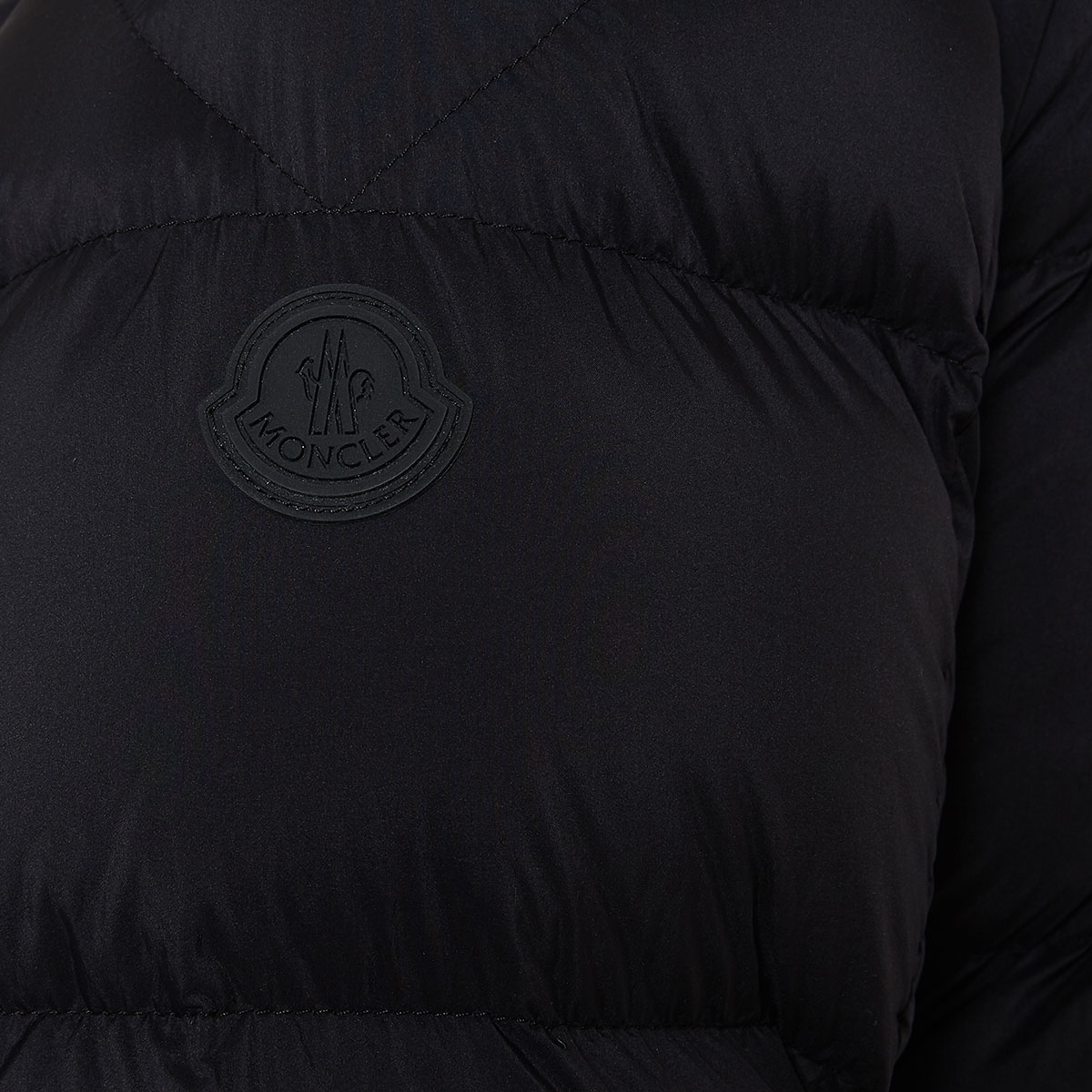 Logo down quilted jacket