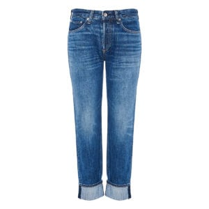 Rosa mid-rise distressed jeans