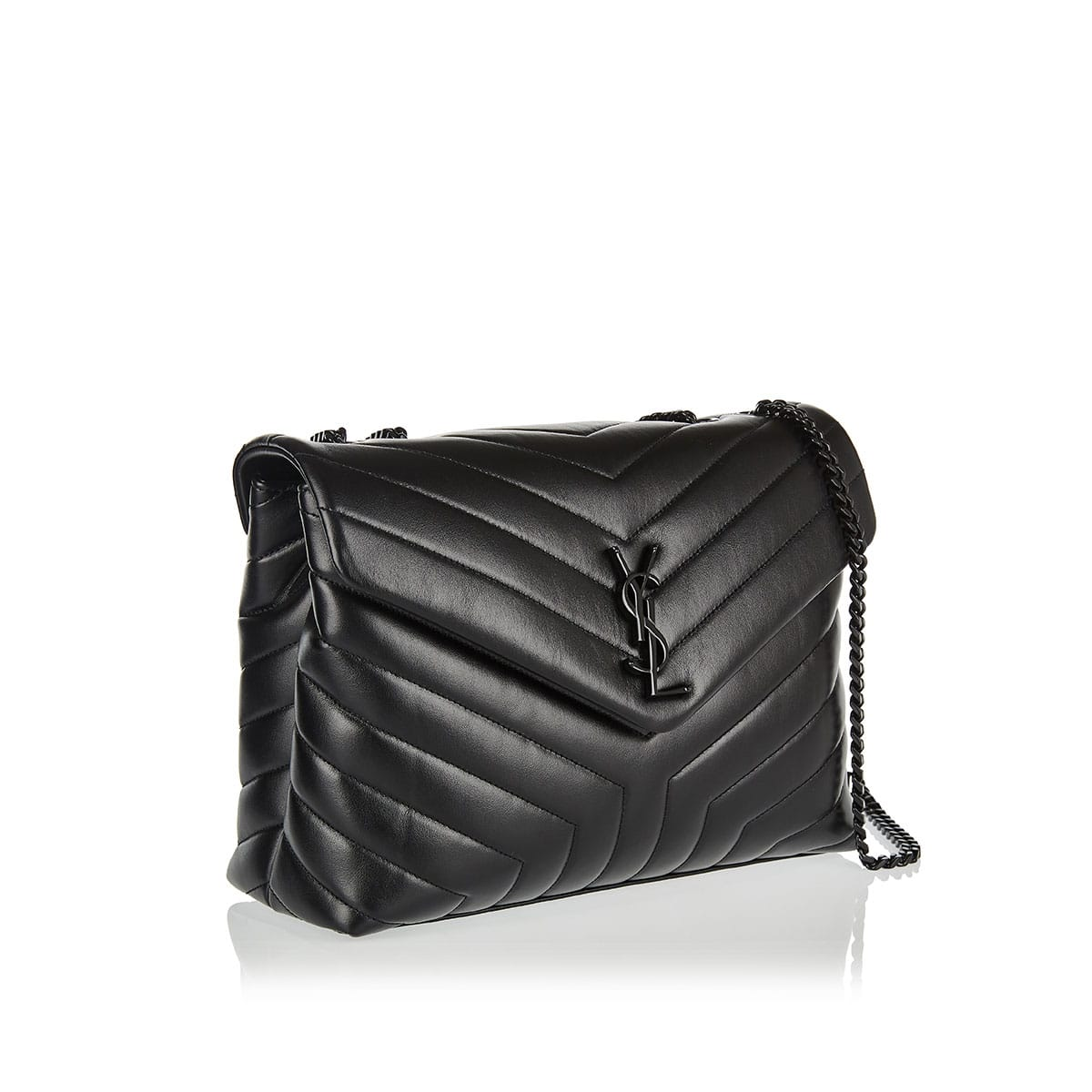 Medium Loulou matelassé leather bag