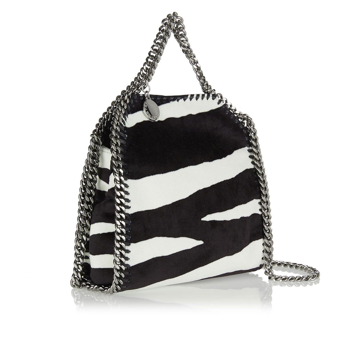 Falabella zebra mini tote