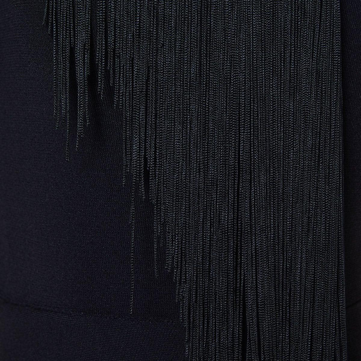 Fringe-trimmed halterneck jumpsuit
