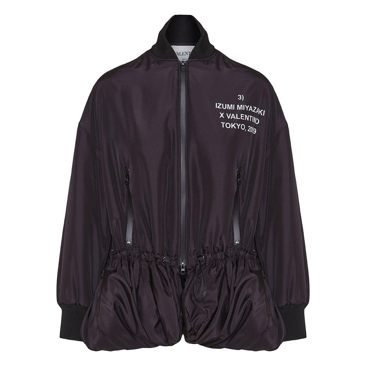 Nylon jacket with Izumi Miyazaki print