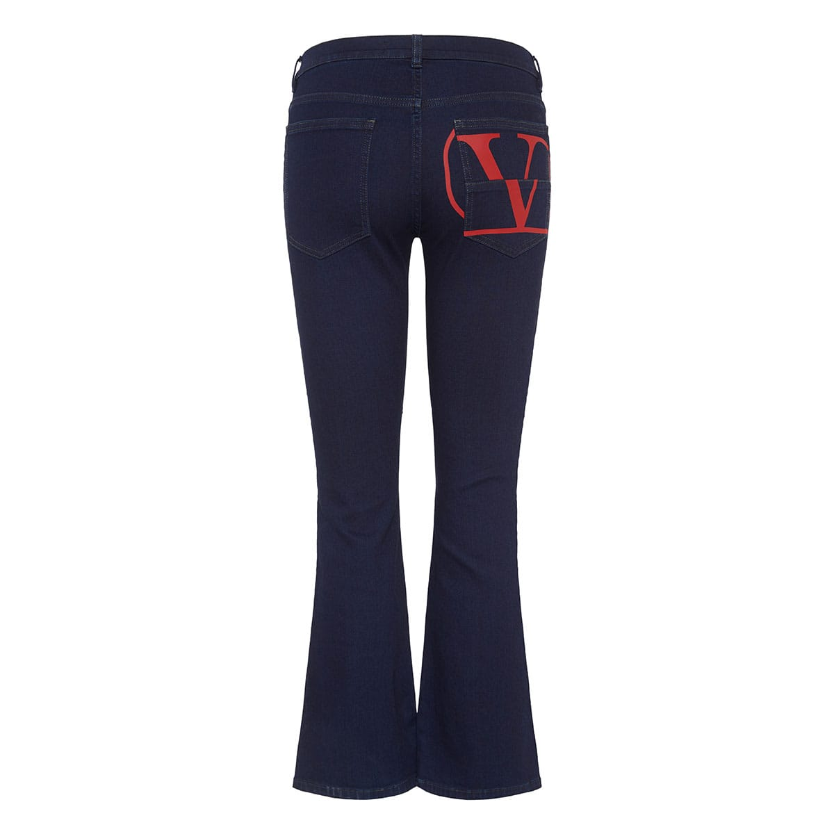 Vlogo cropped flared jeans
