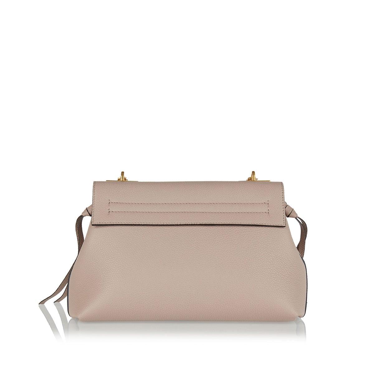 V-RING leather shoulder bag