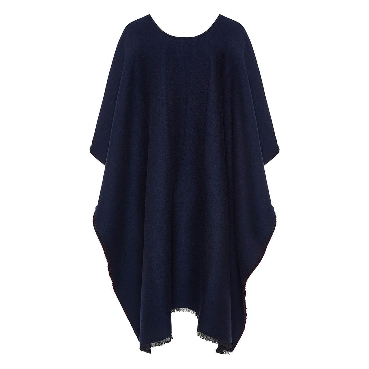 Oversized wool cape