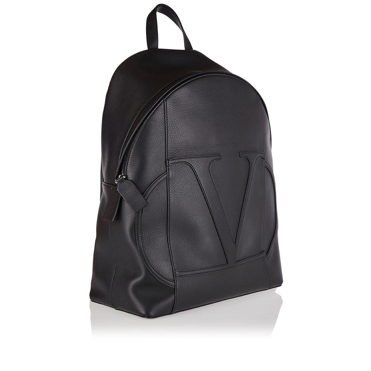 VLOGO leather Backpack