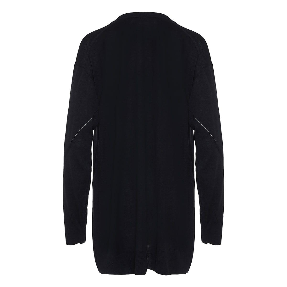 Pin-embellished oversized cardigan