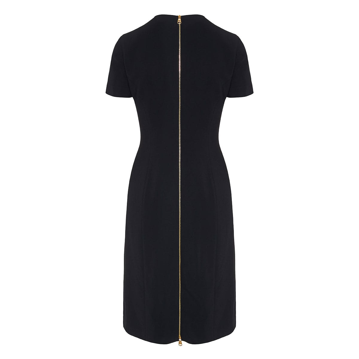 Pin-embellished crepe midi dress