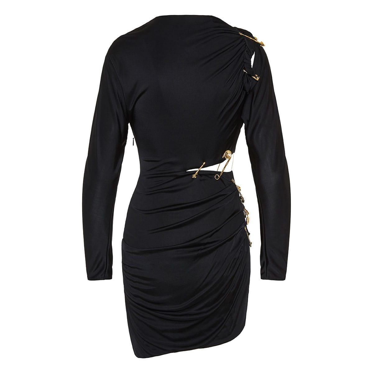 f9b5613ef3 Pin-embellished draped mini dress | LuisaWorld