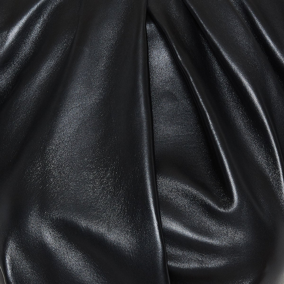 Structured leather midi dress