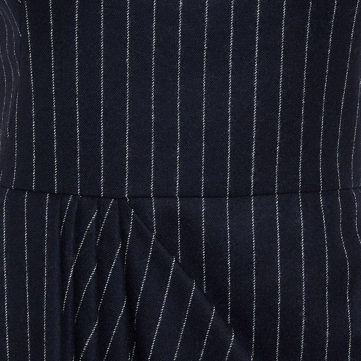 Pinstripe draped dress