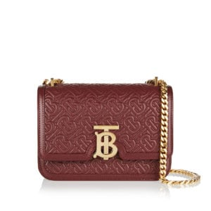 TB logo-quilted chain bag