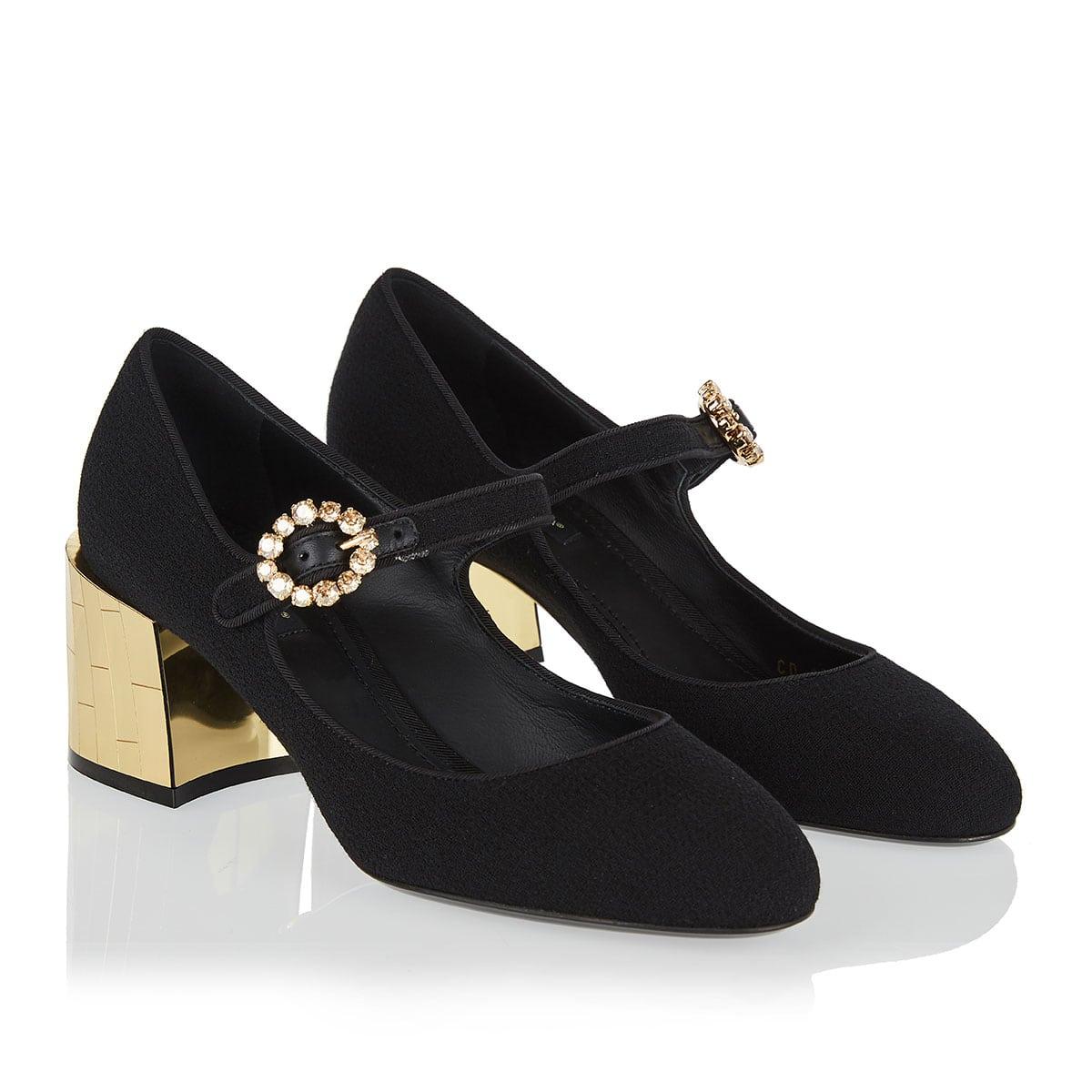 Embellished Mary-Jane pumps