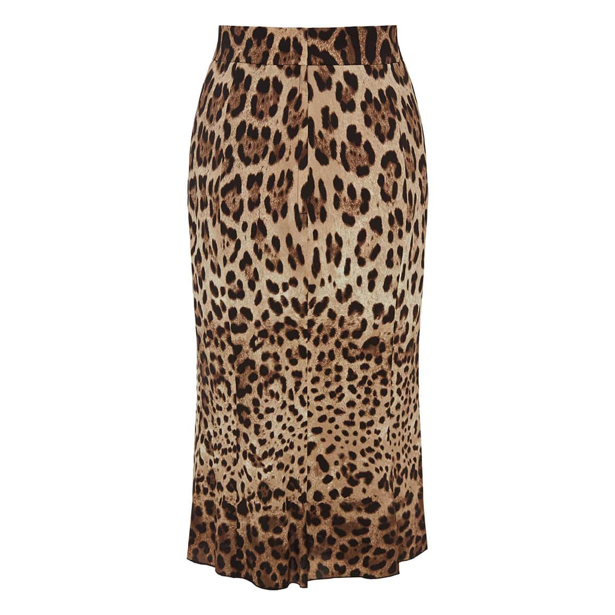 Leopard printed pencil skirt