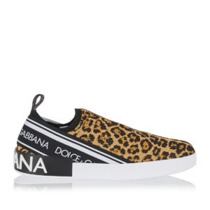 Portofino leopard slip-on sneakers