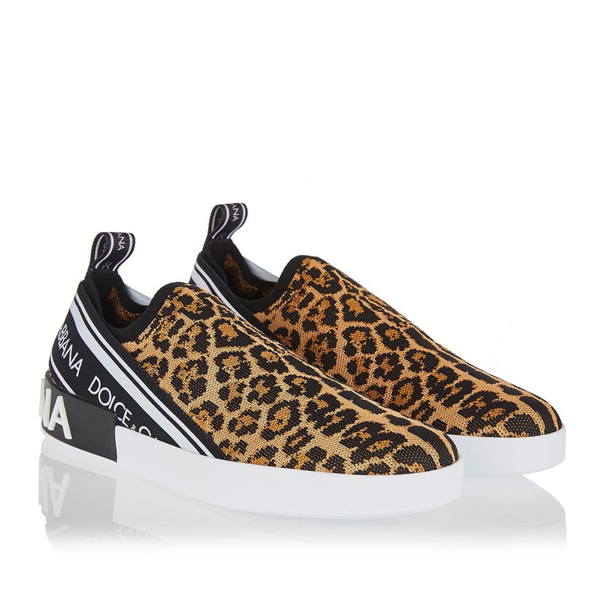 Portofino leopard printed sneakers