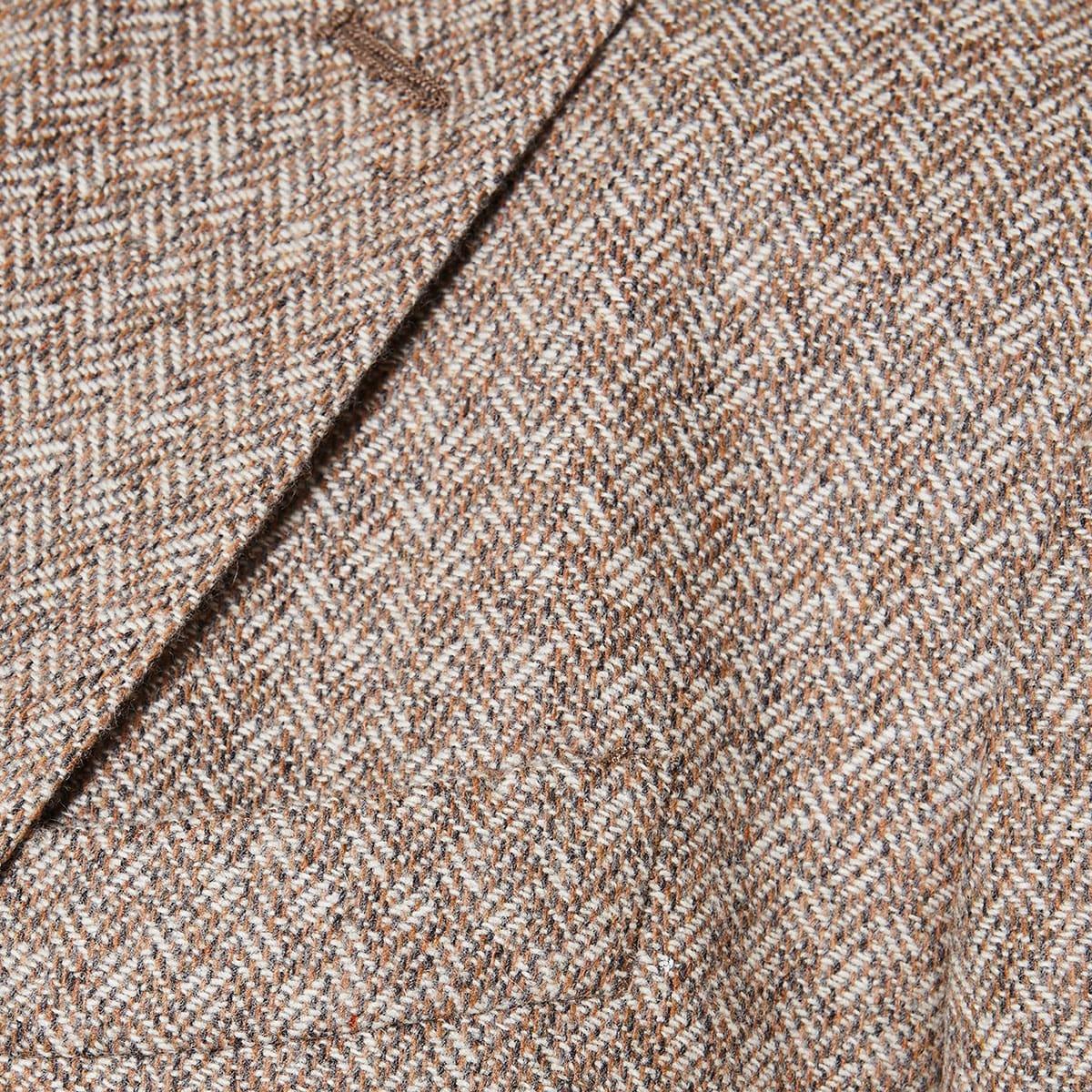 Single-breasted tweed blazer