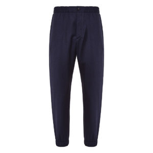 Track-style wool trousers