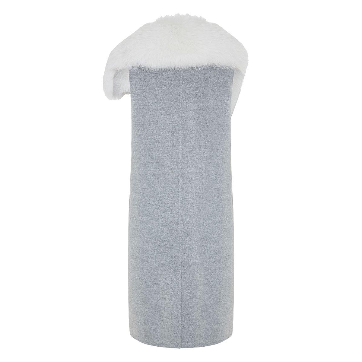 Fur-trimmed cashmere vest