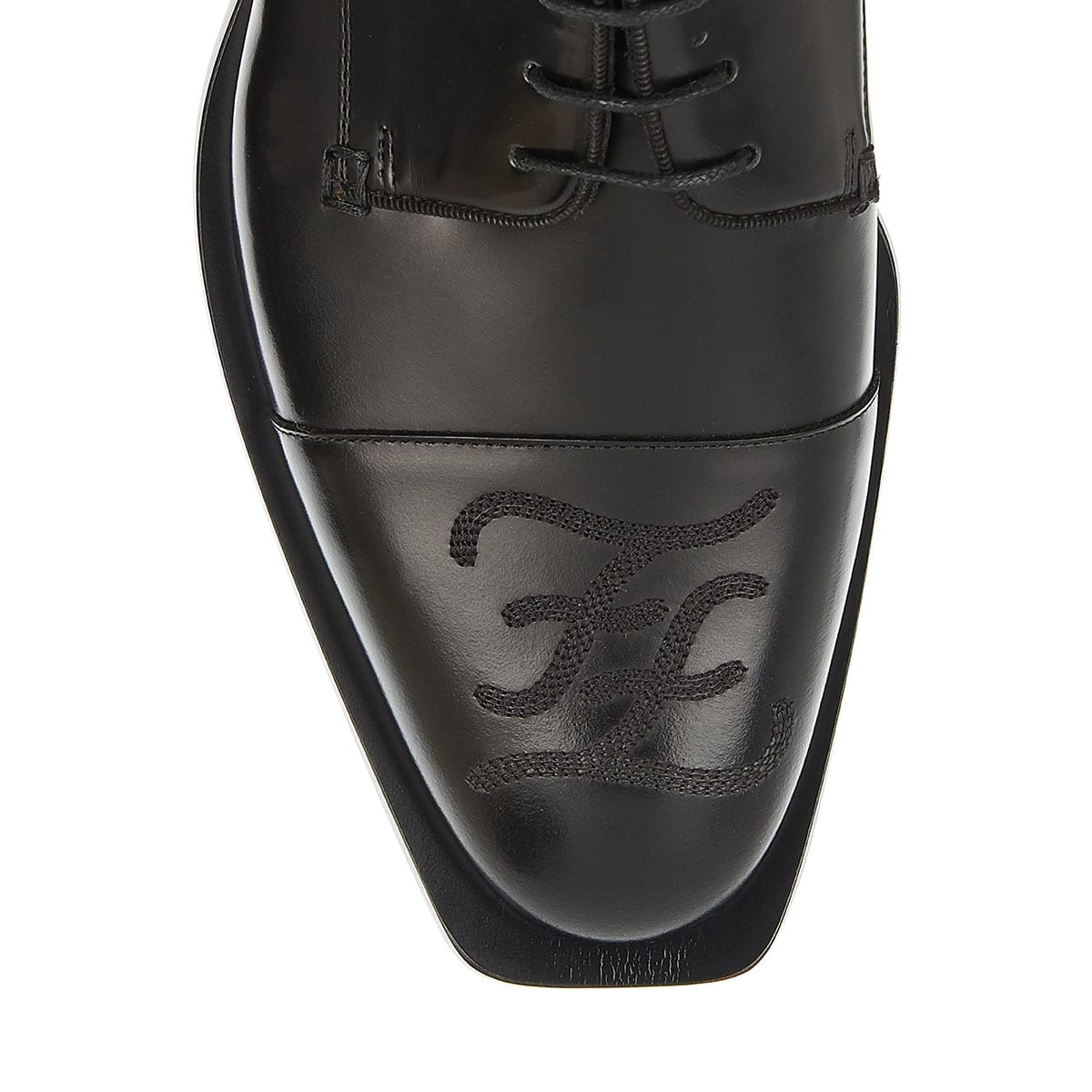 FF leather derby shoes