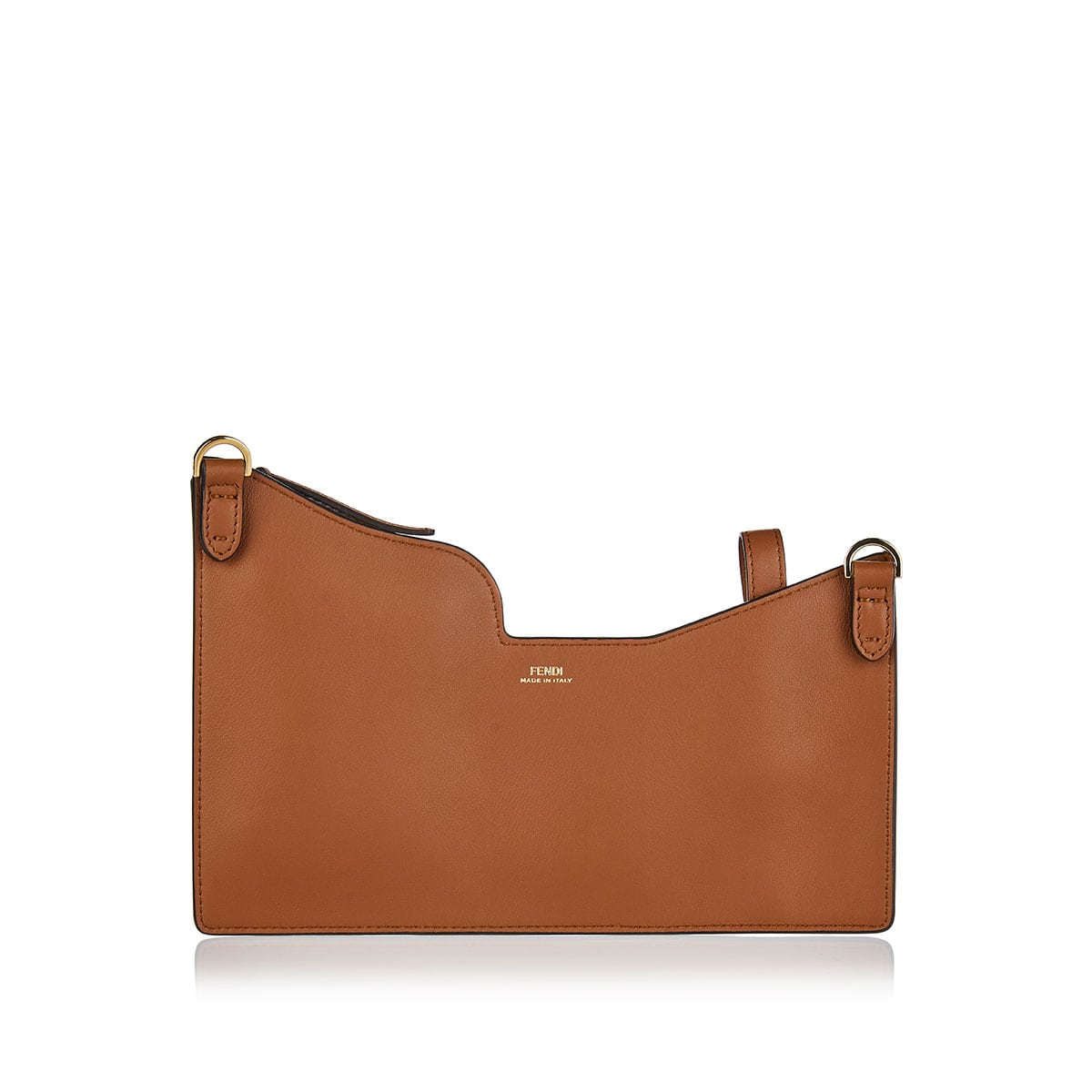 Utility-style leather crossbody bag