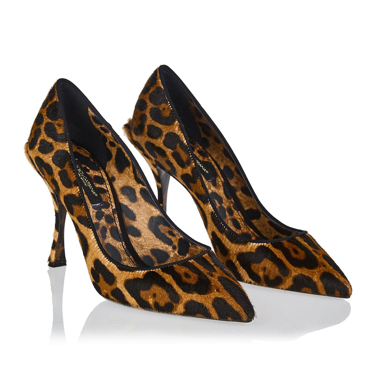Lori leopard pony-hair pumps