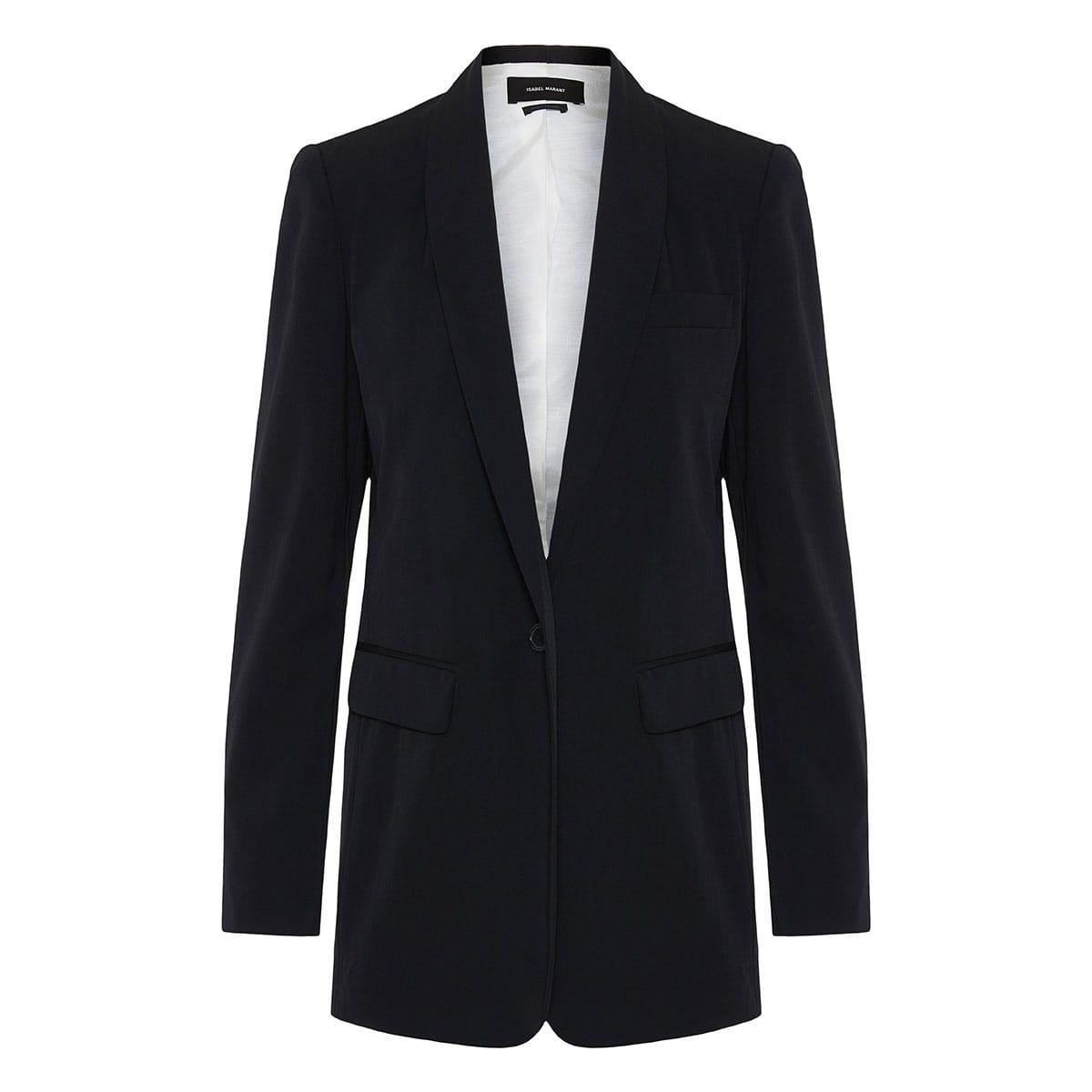 Oversized single-breasted blazer