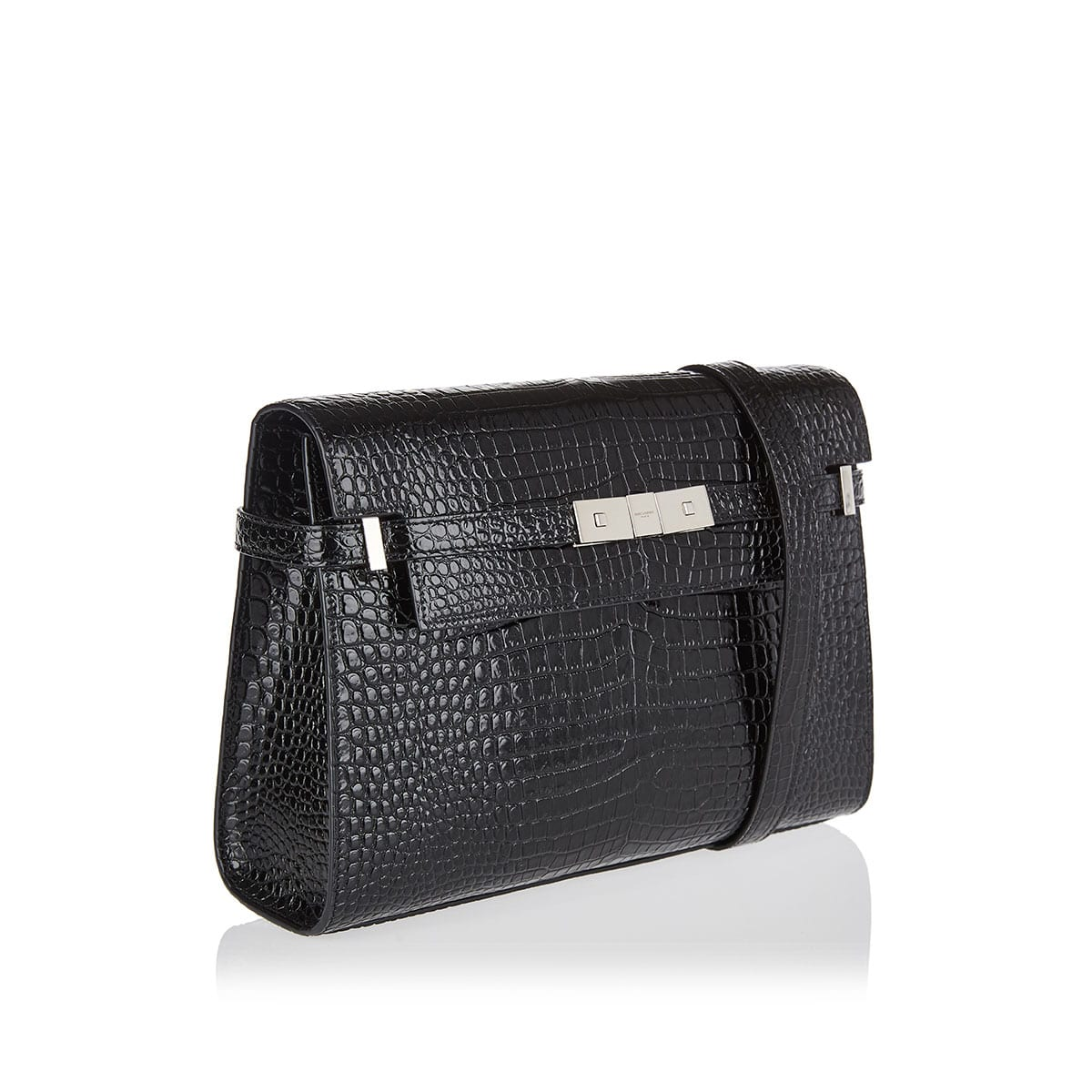 Manhattan croc-efect baguette bag