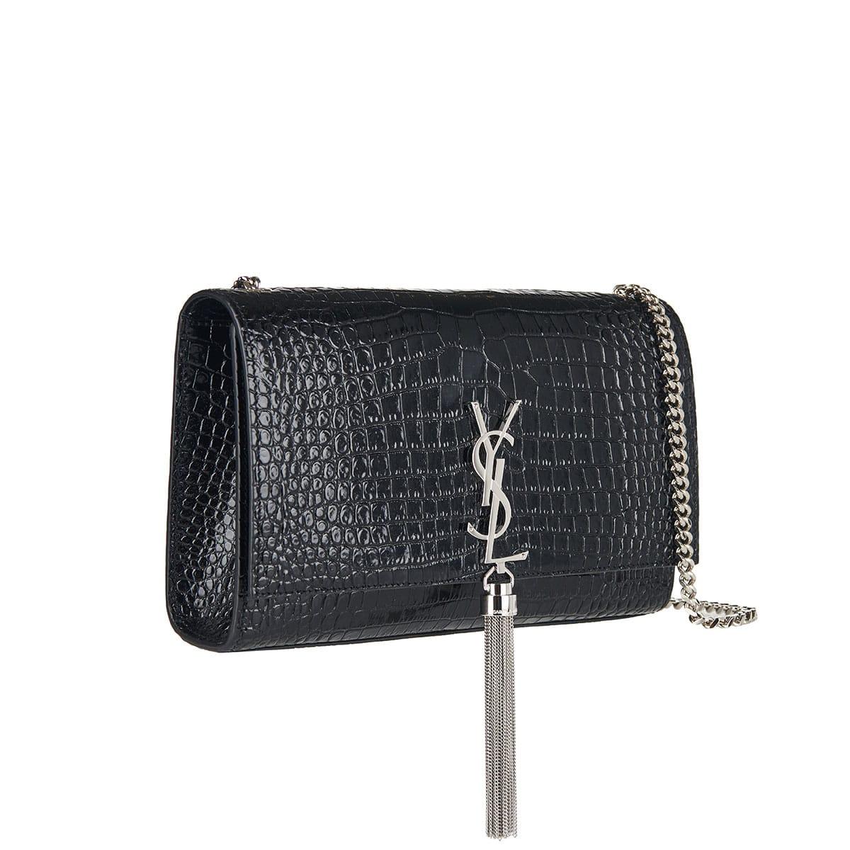 Medium Kate tassel croc-effect chain bag