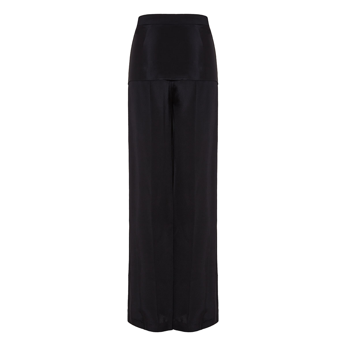 Wide-leg trousers with fringed ties