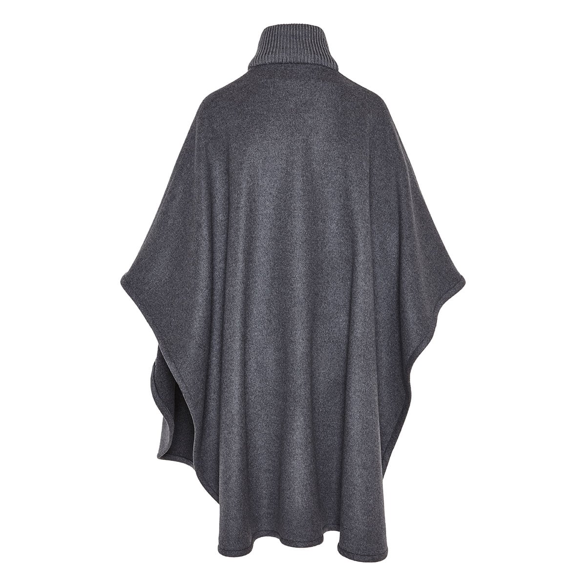Zipper wool cape