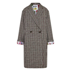 + The Beatles oversized checked coat