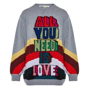 + The Beatles oversized wool logo sweater