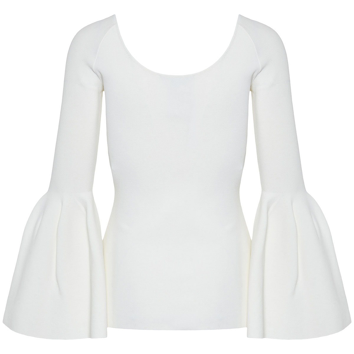 Flounce sleeves knitted blouse