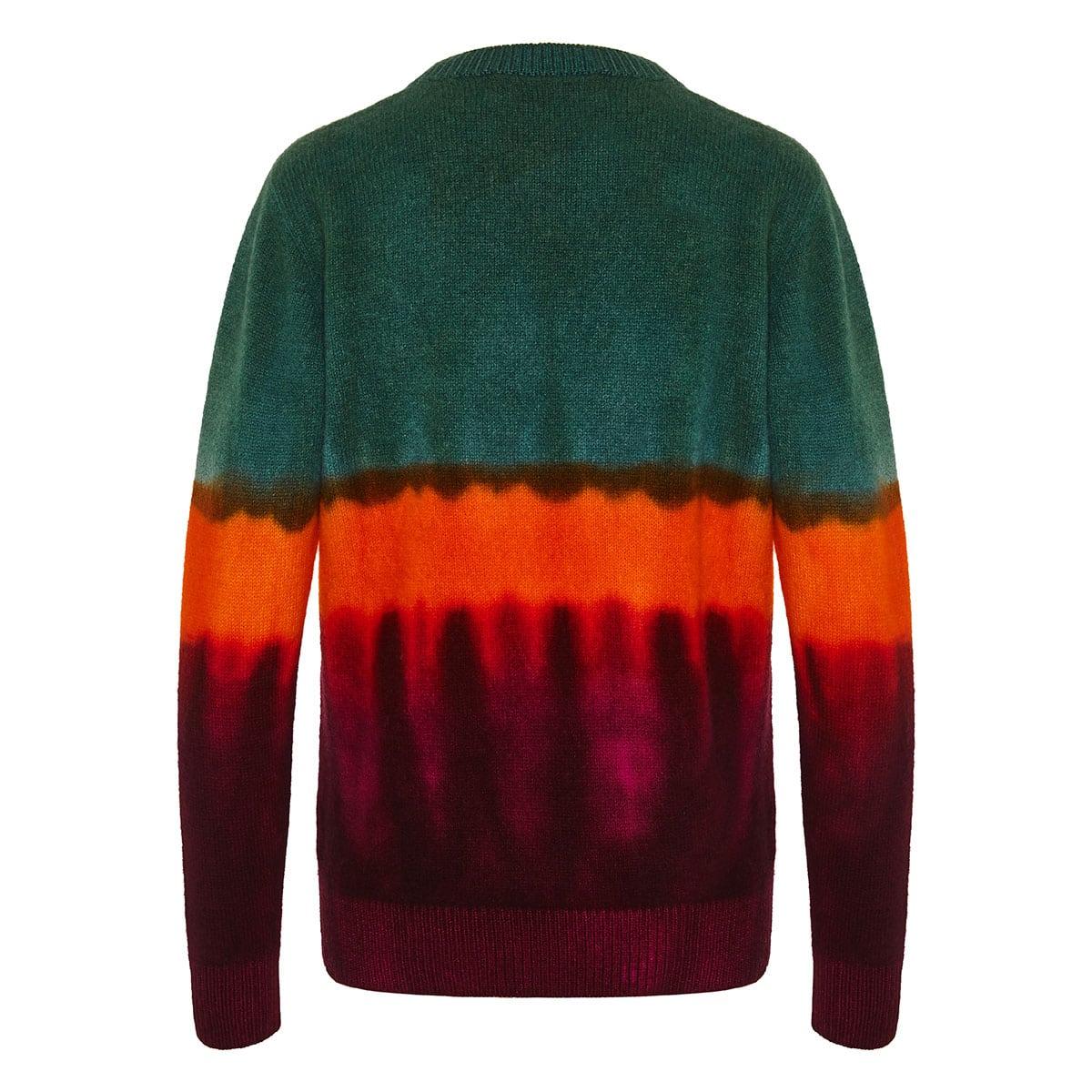 Tie dye cashmere sweater