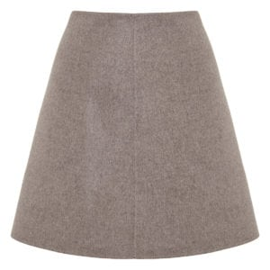 A-line wool mini skirt