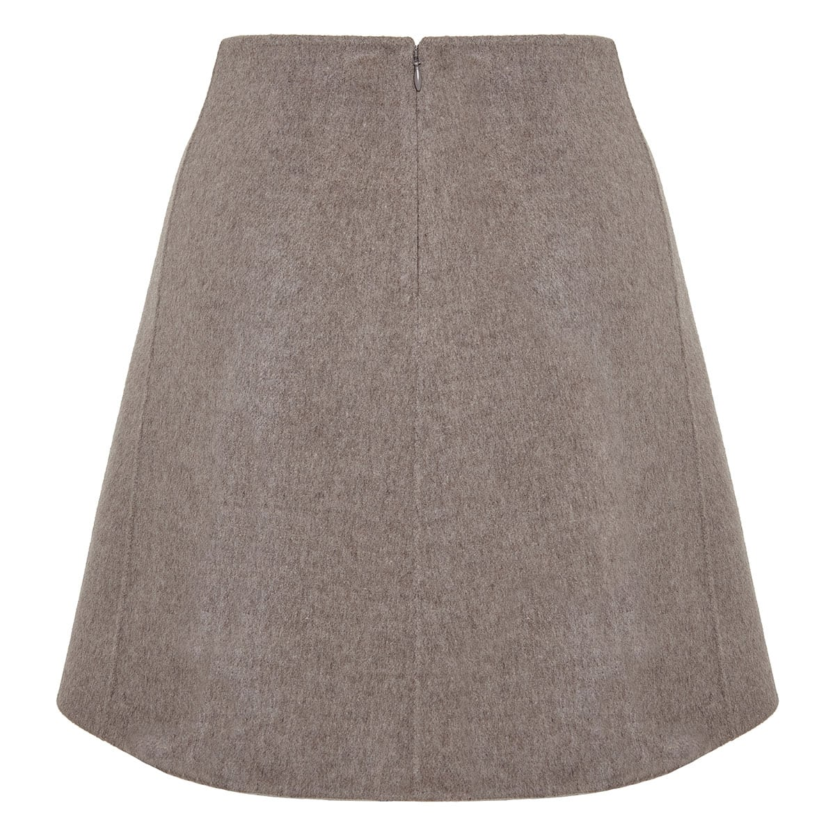 A-line wool mini skirt