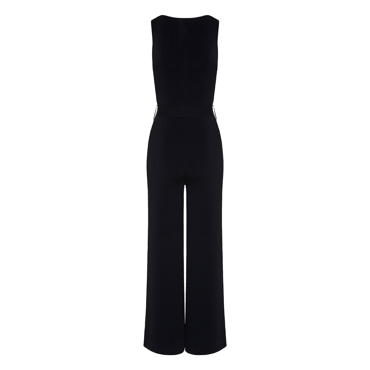 Wide-leg knitted jumpsuit