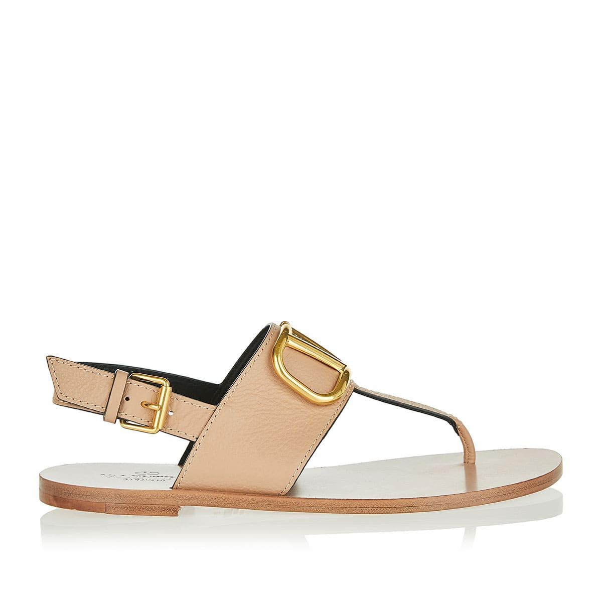 VLOGO Cowhide Flip Flop sandals