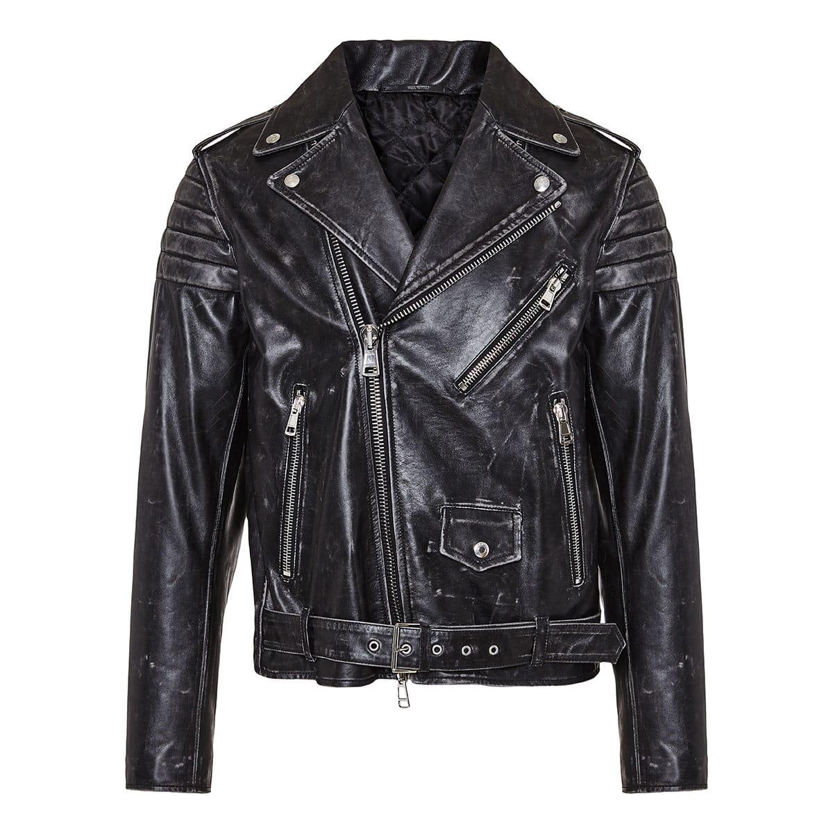 x Undercover V Face biker jacket