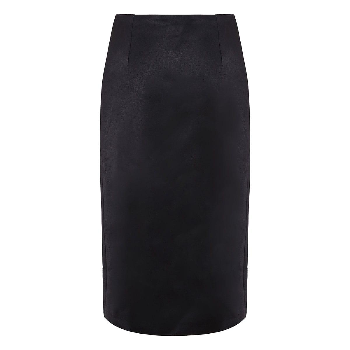 Embellished wrap midi skirt