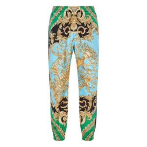 Baroque print nylon track trousers
