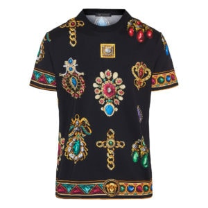 Jewel printed cotton t-shirt