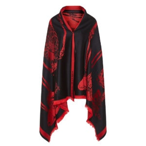 King And Queen wool jacquard shawl